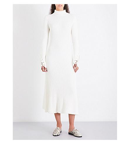 MAJE Rafaela knitted dress (Ecru