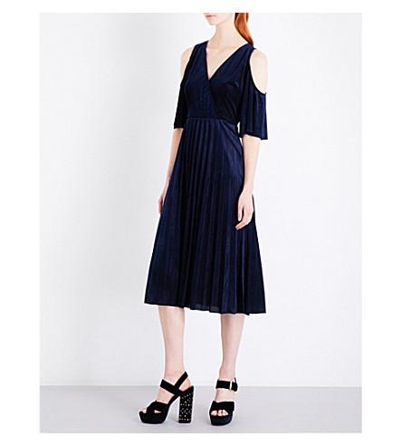 MAJE Ragui velvet dress (Night