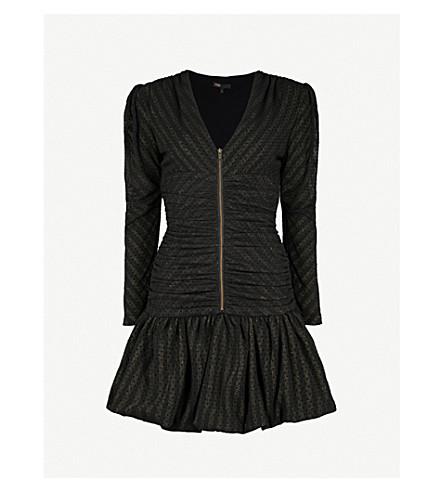 MAJE Ralone polka-dot mesh mini dress (Black