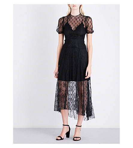 MAJE Ramsey embroidered lace dress (Black+210