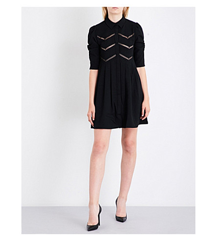 MAJE Ratila crepe dress (Black+210