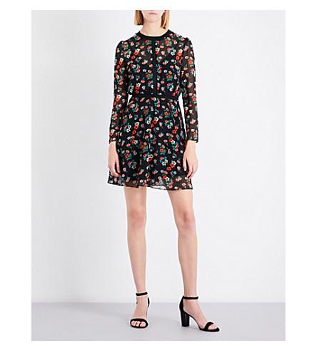MAJE Rayon floral chiffon dress (Print