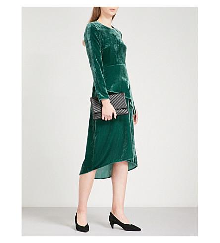 MAJE Remanio velvet midi dress (Green
