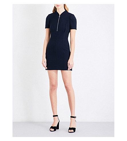MAJE Fitted crepe dress (Navy