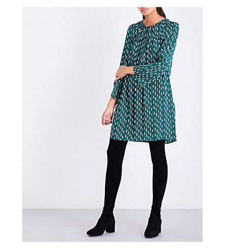 MAJE Revalou crepe dress (Printed