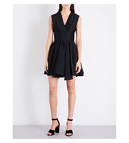 MAJE Revely V-neck woven dress (Black+210