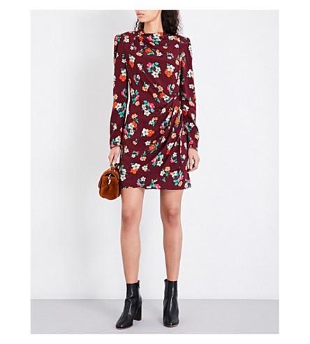 MAJE Ripito floral crepe dress (Imprime