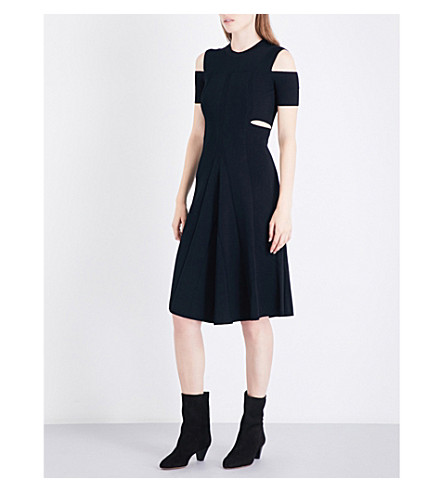 MAJE Ristourne waffle-knit dress (Black+210