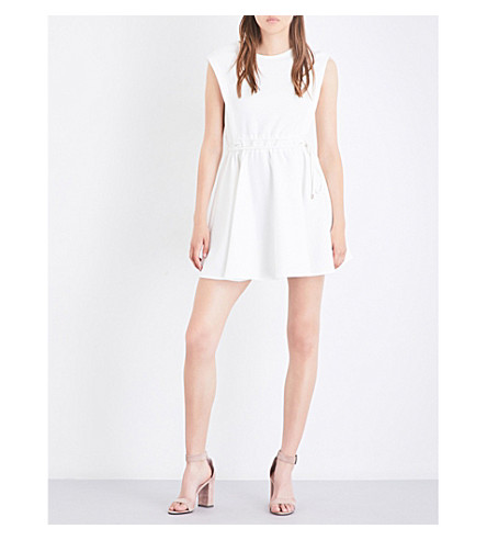 MAJE Rite stretch-crepe mini dress (White