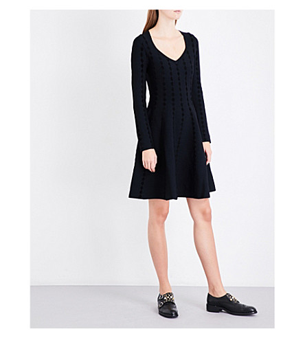 MAJE Riziere knitted dress (Black