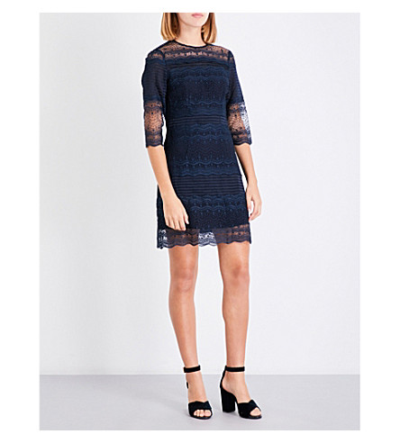 MAJE Rizzie lace dress (Navy