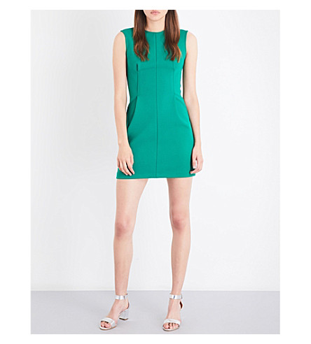 MAJE Rodezio crepe dress (Green