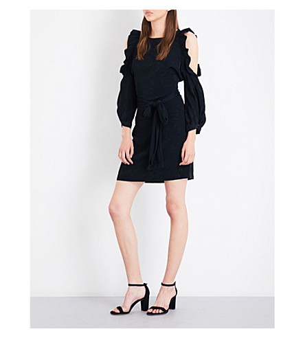 MAJE Rod jacquard dress (Black+210