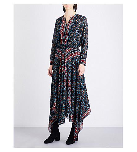 MAJE Roeme floral-print chiffon maxi dress (Printed