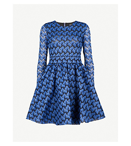 MAJE Royani lace dress (Blue