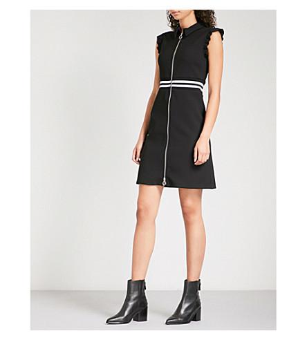 MAJE Rundi crepe dress (Black