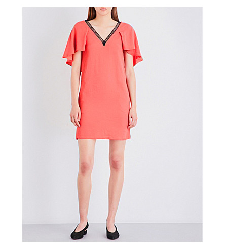 MAJE Rysandre woven mini dress (Orange