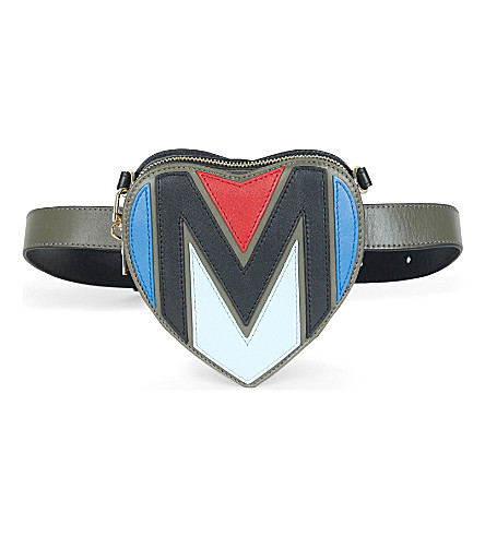 MAJE M leather bumbag (Multico