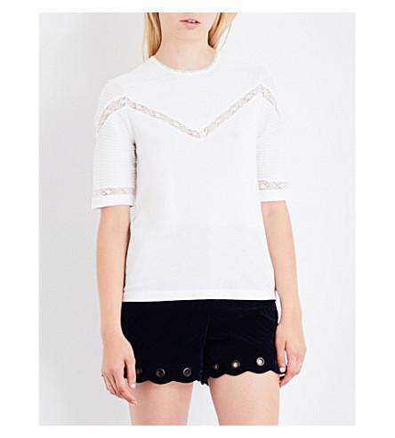 MAJE 塔莎棉混纺 t恤衫 (本色