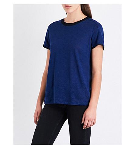 MAJE Tenerife linen T-shirt (Navy