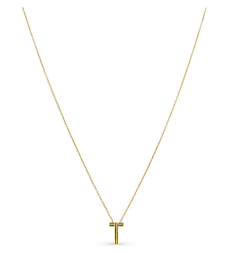 MAJE 'T' initial pendant necklace (Gold
