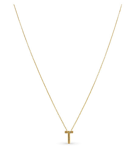 MAJE 'T' initial pendant necklace (Or