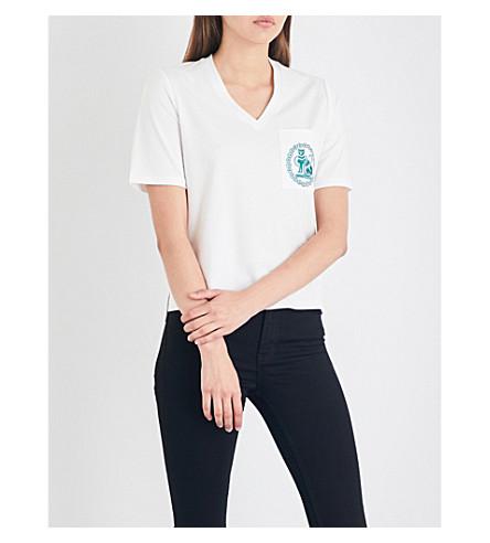 MAJE Tita cotton-jersey T-shirt (Ecru