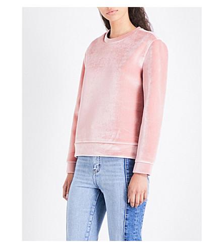MAJE Torina velvet sweatshirt (Pink