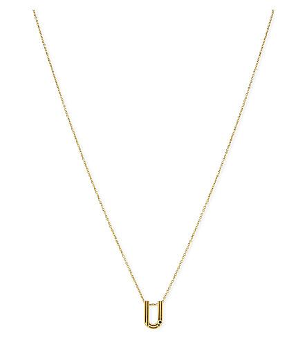 MAJE 'U' initial pendant necklace (Gold