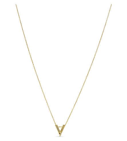MAJE 'V' initial pendant necklace (Gold