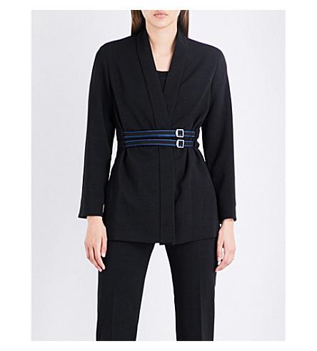 MAJE Vreni crepe kimono jacket (Black+210