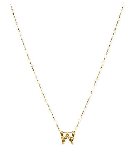 MAJE 'W' pendant necklace (Gold