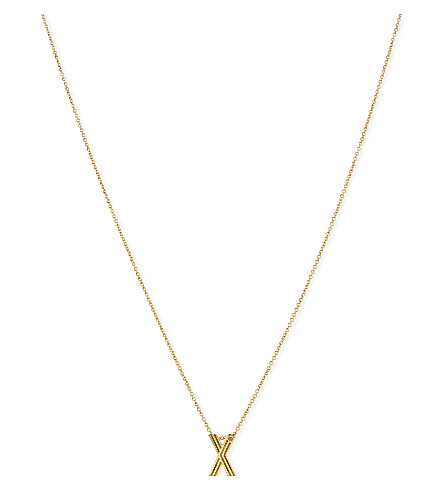 MAJE 'X' initial pendant necklace (Gold