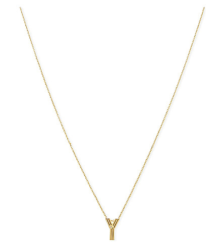 MAJE 'Y' initial pendant necklace (Gold