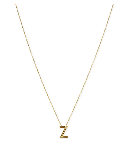 MAJE 'Z' pendant necklace (Gold