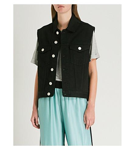 Beny MAJE denim chaqueta sin Negro 210 mangas TBfFqp0B
