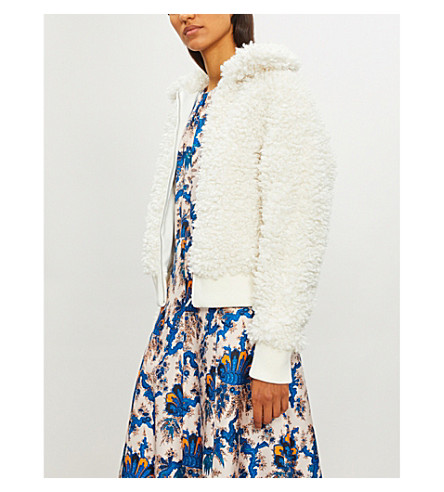 Blanche looped faux-fur jacket(H18BLANCHE)