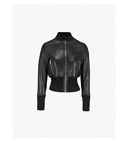 MAJE Bloti faux-leather bomber jacket (Black 210