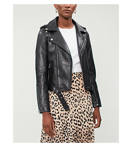 Celix lambskin leather biker jacket(H18BOCELIX)