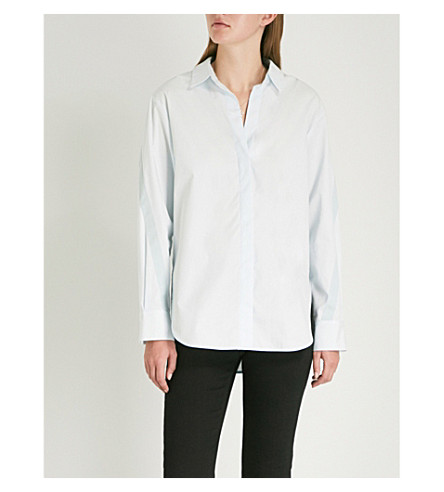 ciel Bleu algodón popelina MAJE Camisa de Charme y 0Aw6nfq7