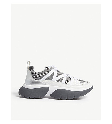 Fastest oversized leather and textile trainers(H18FASTESTDG)