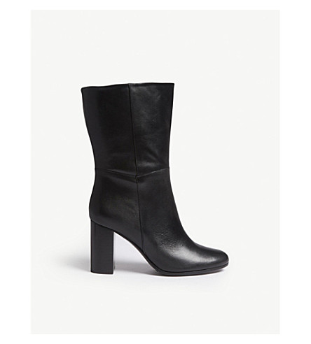 Leather ankle boots(H18FOXYFOLD)