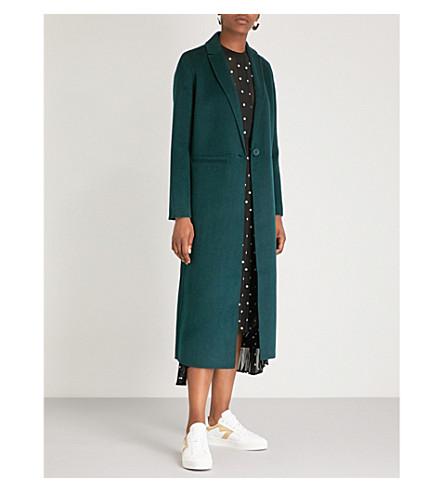 Galaxy long line wool-blend coat