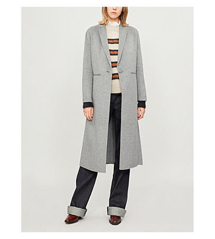 Galaxy long line wool-blend coat(H18GALAXY)