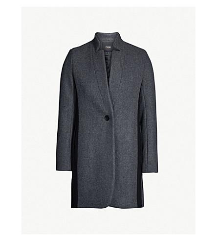 MAJE Galim wool-blend coat (Anthracite