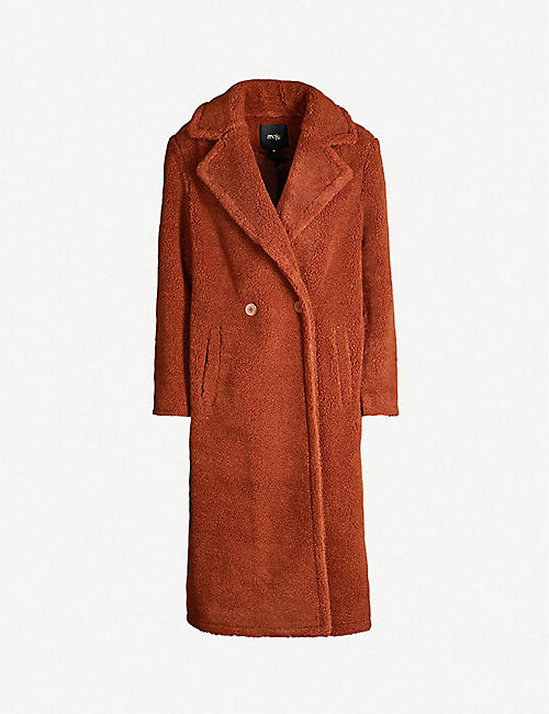 MAJE Gourson faux-shearling coat af2c050995