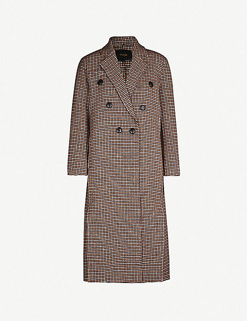 MAJE Guindy double-breasted checked wool coat cd85517dbd