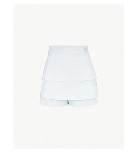 MAJE Salia 高腰分级绉短裤 (蓝 + 彩虹