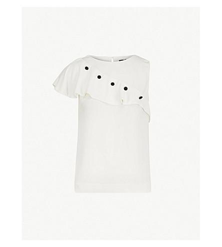 MAJE Lorena woven top (Blanc