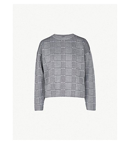 MAJE Mission knitted sweater (Carreaux